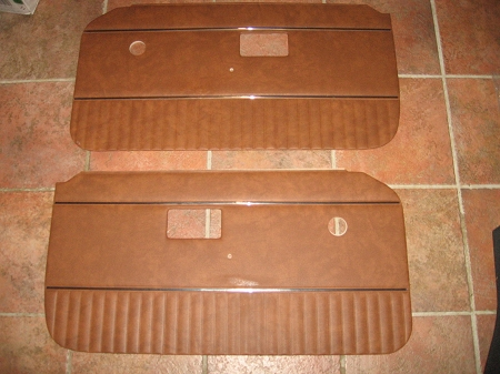 Door Panels For Mgb 1970 80 Autumn Leaf With Chrome