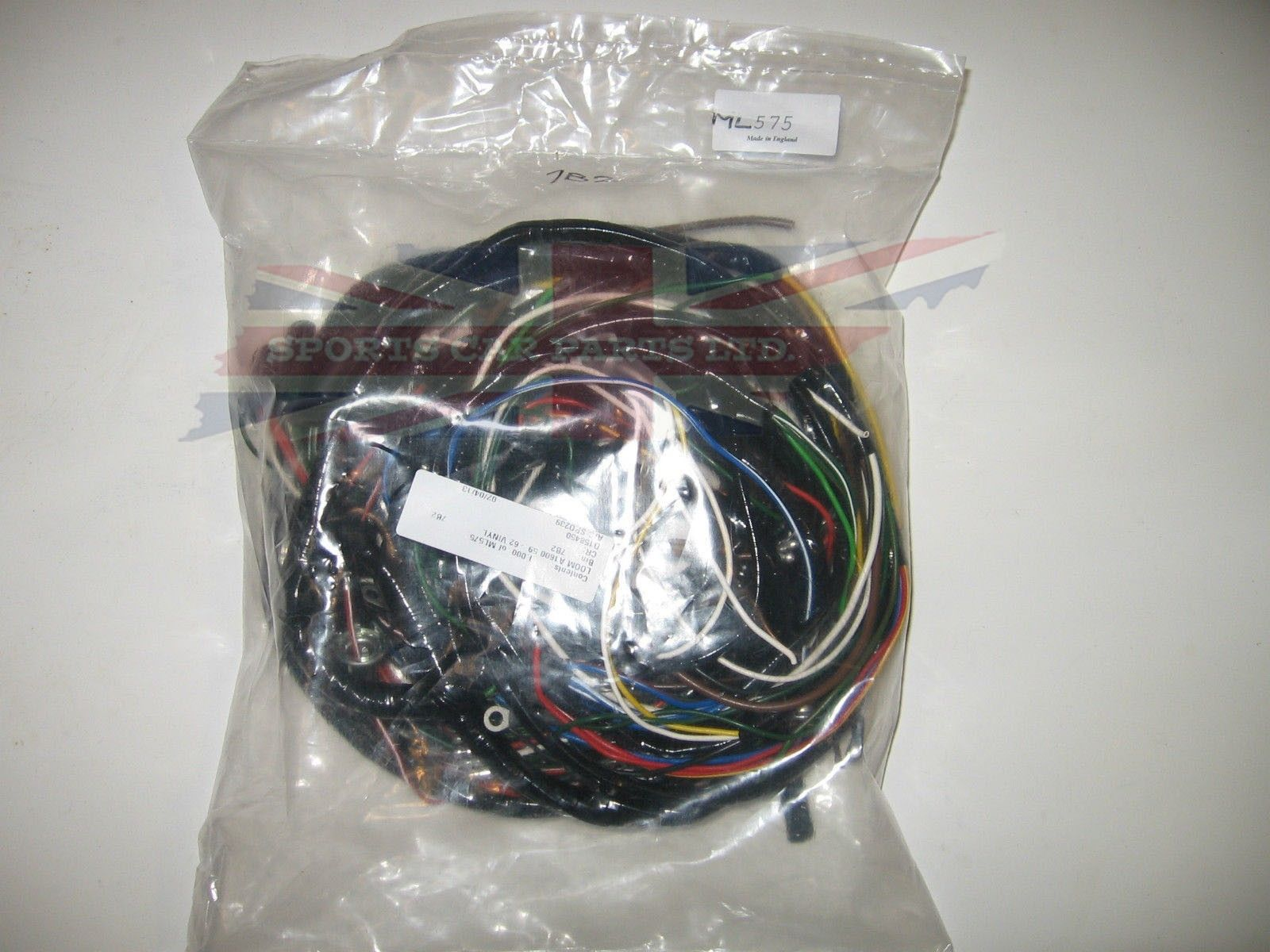 vinyl covered wiring harness for mg mga 1600 1959 1962 rh sportscarpartsltd  com 1979 MGB Wiring Harness Cleaning Up MGB Wiring