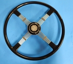 Reproduction of Brooklands Steering Wheel for MGA Black