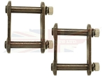 Pair of Rear Axle Leaf Spring Shackle Plate Kits MGB MGA