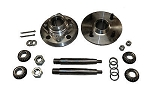 Front Alloy Hub, Heavy Duty Stub Axle & HD Bearing Kit Triumph TR4 TR4A & TR6
