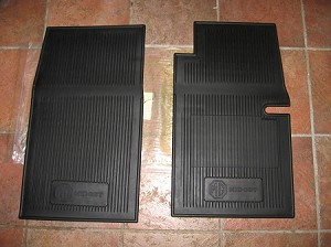 Floor Mat Rubber MG Midget 1965-79 With Roll Up Windows