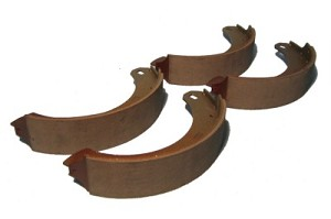Rear Brake Shoe Set, Austin Healey 100 100-6 3000 from late BN1 to BJ8