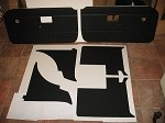 6 Piece Interior Panel Set with Door Panels MGB 1970-80 Black with No Chrome