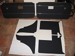 6 Piece Interior Panel Set with Door Panels for MGB GT 1970-75 Navy Blue