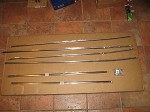 Chrome Body Trim Set with Mounting Hardware MGB