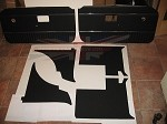 7 Piece Interior Panel Set for MGB 1970-80 Black With Chrome