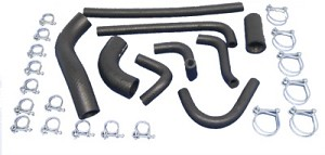 Water Radiator and Heater Hose Set With Clamps Triumph TR6 1969-1974
