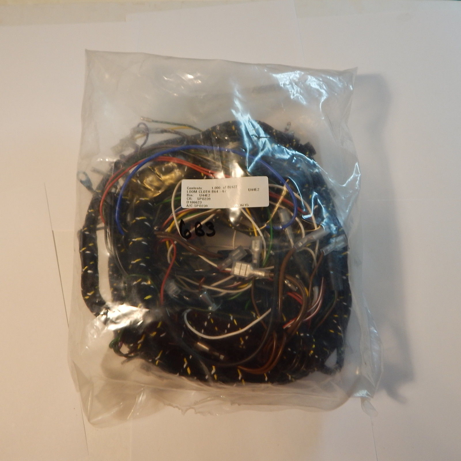 Cloth Covered Main Wiring Harness For Mg Mgb 1965